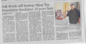 Oak Brook still hosting Maag Toy Foundation fundraiser 25 years later.